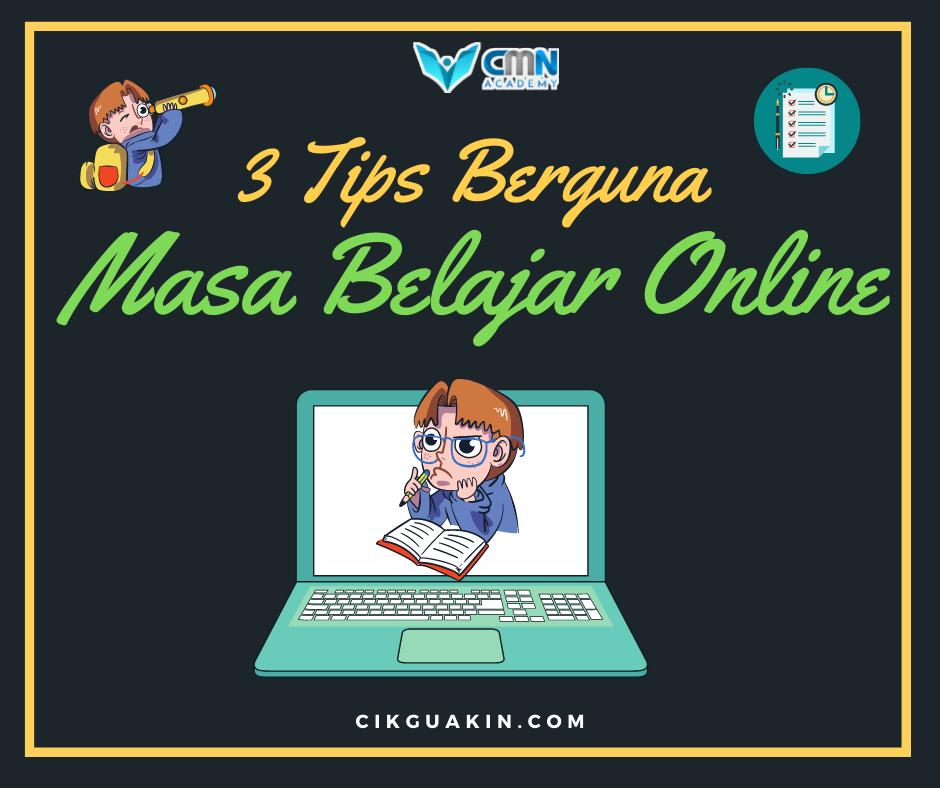 3 Tip Urus Masa Belajar Online