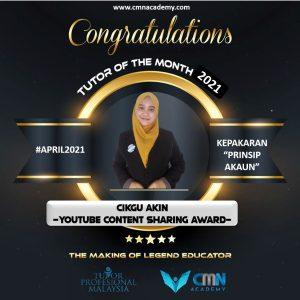 Award April 2021 Cikgu Akin