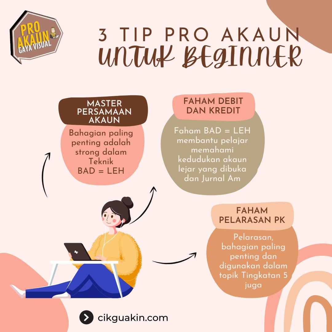 3 Tip Pro Akaun Untuk Beginner