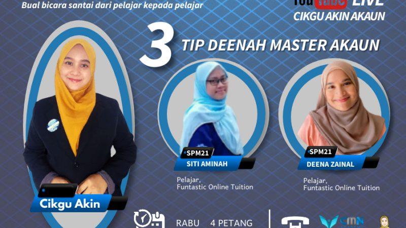 LIVE | 3 Tip Master Akaun Gaya DeeNah